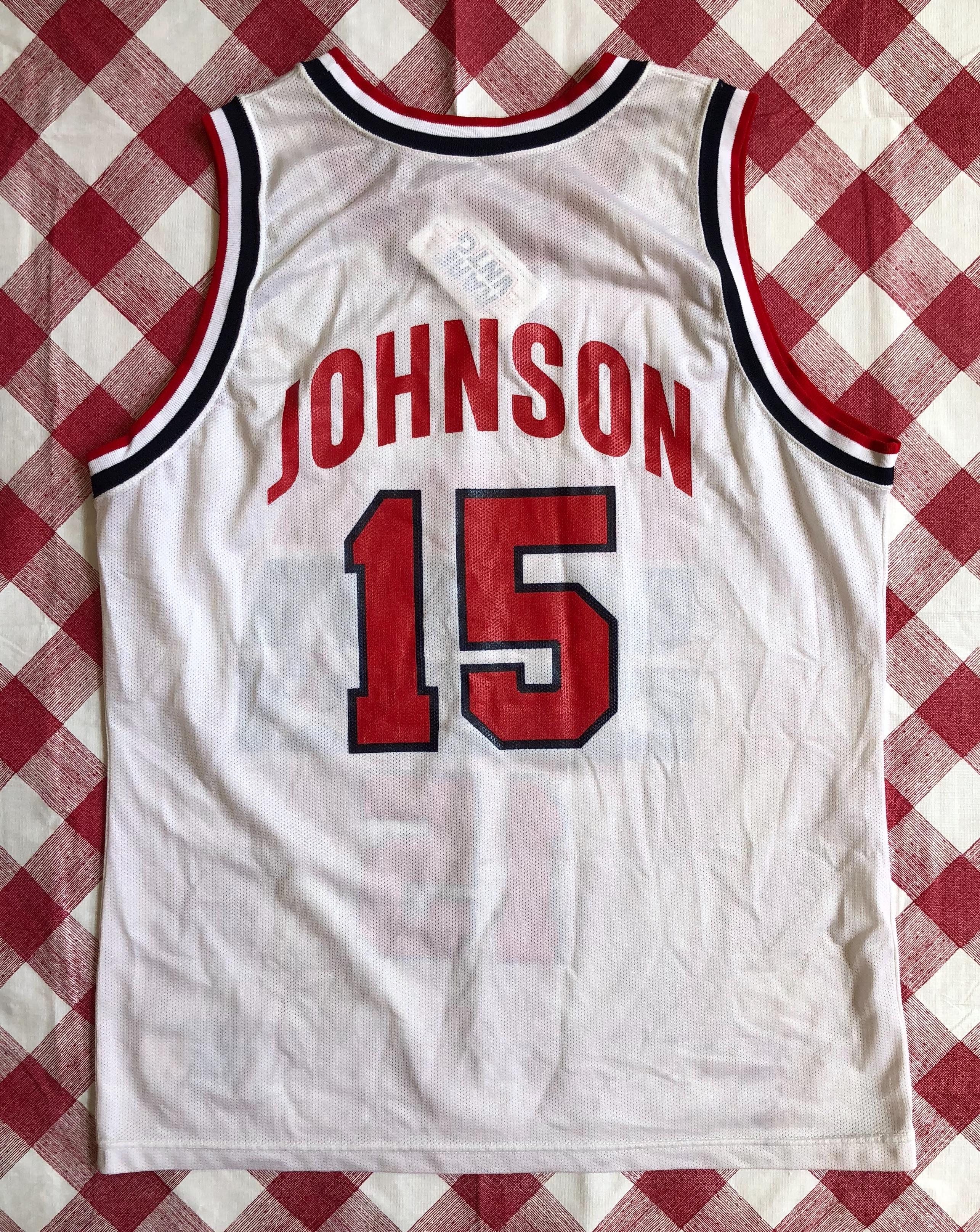 e87e4923 1992 Magic Johnson Team USA Dream Team Champion Jersey Size 44.  7F250A6B-D1CC-42D5-ACB3-7210B1EEBDAB
