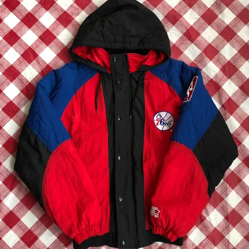 90's Philadelphia Sixers 76ers Starter NBA Jacket Size Small