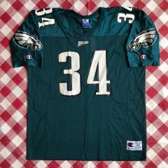 1996 Kevin Turner Philadelphia Eagles Champion NFL Jersey Size 52