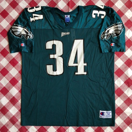 1996 Kevin Turner Philadelphia Eagles Champion NFL Jersey Size 52