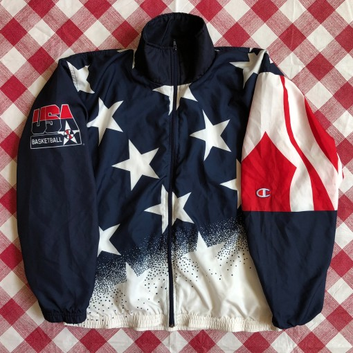 1996 Team USA Basketball Champion Olympic Warm Up Jacket Size Large