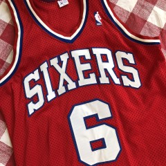 80's Julius Erving Philadelphia Sixers Authentic Sandknit NBA Jersey Size Medium