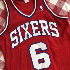 e3b8759ee72 80 s Julius Erving Philadelphia Sixers Authentic Sandknit NBA Jersey Size  Medium