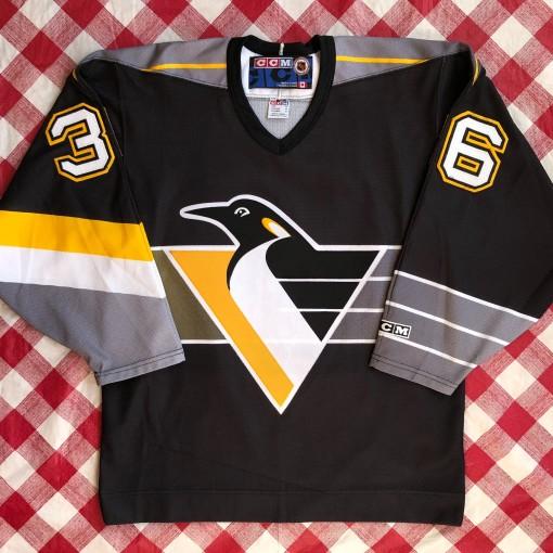 90's Matthew Barnaby Pittsburgh Penguins CCM NHL Jersey Size Medium