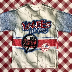 1996 New York Yankees All Out Fans Double Sided MLB T-shirt