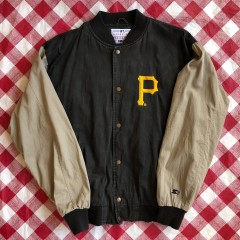 90's Pittsburgh Pirates Starter Paisley MLB Varsity Jacket Size Large