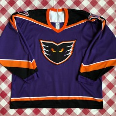 1996 Philadelphia Phantoms Bauer Purple AHL Jersey Size XL