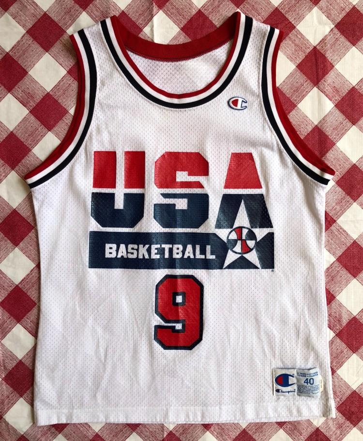 online retailer abff3 c02ea 1992 Michael Jordan Team USA Dream Team Champion Jersey Size 40