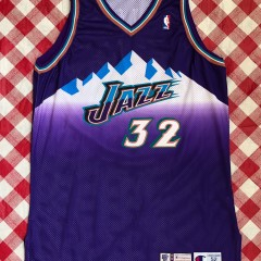 1999 Karl Malone Utah Jazz Authentic Pro Cut Champion NBA Jersey Size 52 +4