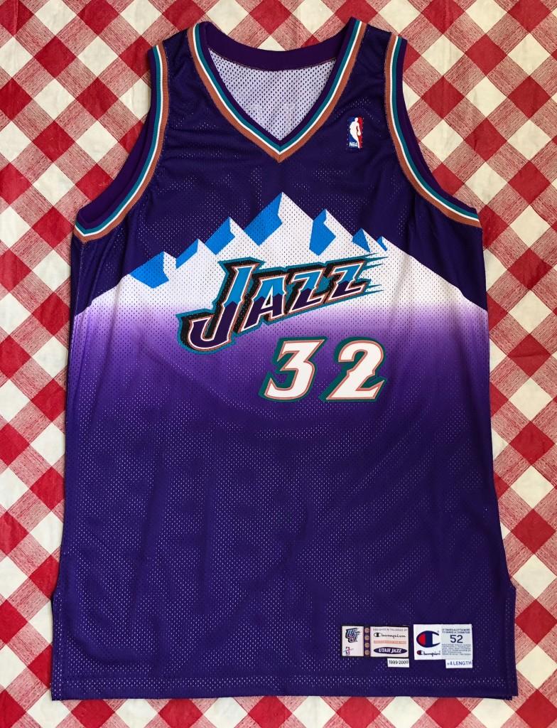 1a08803ff09 1999 Karl Malone Utah Jazz Authentic Pro Cut Champion NBA Jersey Size 52 +4