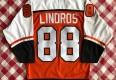 90's Eric Lindros Philadelphia Flyers Orange Nike NHL Jersey Size Medium