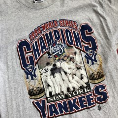 1998 New York Yankees World Series Champs Grey MLB T-shirt Size XL