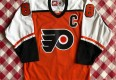 90's Eric Lindros Philadelphia Flyers Orange Nike NHL Jersey Size Medium