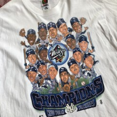 1998 New York Yankees World Series Champs Cartoon MLB T-shirt Size XL