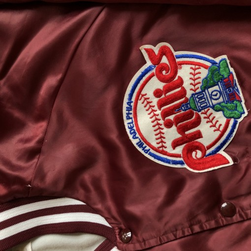 80's Philadelphia Phillies Chalkline Satin MLB Jacket Size Xl