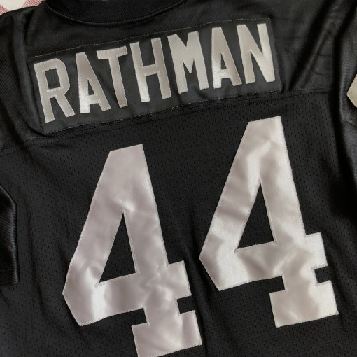 1994 Tom Rathman Los Angeles Raiders Russell NFL Jersey Size 48