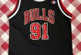 1996 Dennis Rodman Chicago Bulls Champion NBA Jersey Youth Large