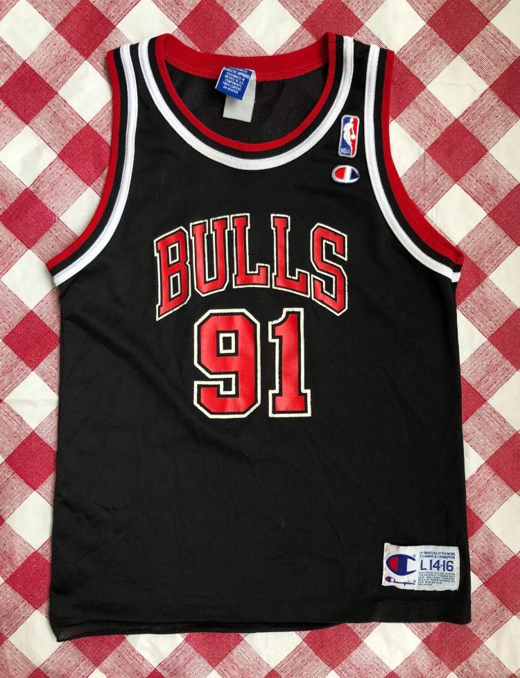 2d9f6698df5 1996 Dennis Rodman Chicago Bulls Champion NBA Jersey Youth Large ...