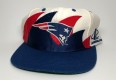 90's New England Patriots Logo Athletic Double Sharktooth NFL Snapback Hat