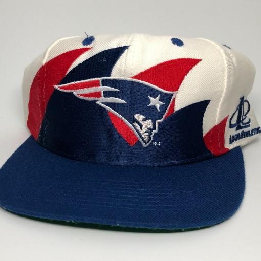 90's New England Patriots Logo Athletic Double Sharktooth NFL Snapback Hat