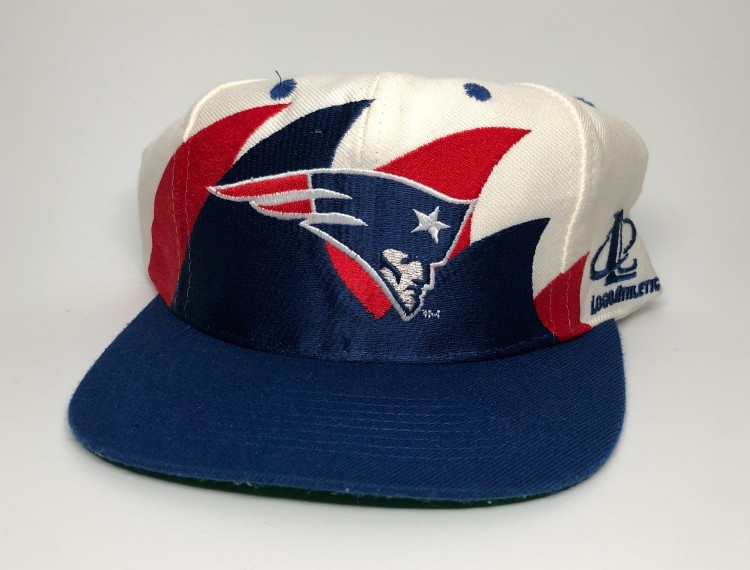 7fc1adc8 90's New England Patriots Logo Athletic Double Sharktooth NFL Snapback Hat