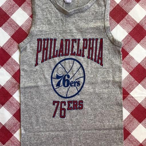80's Philadelphia 76ers Sixers Champion NBA Tank Size Small