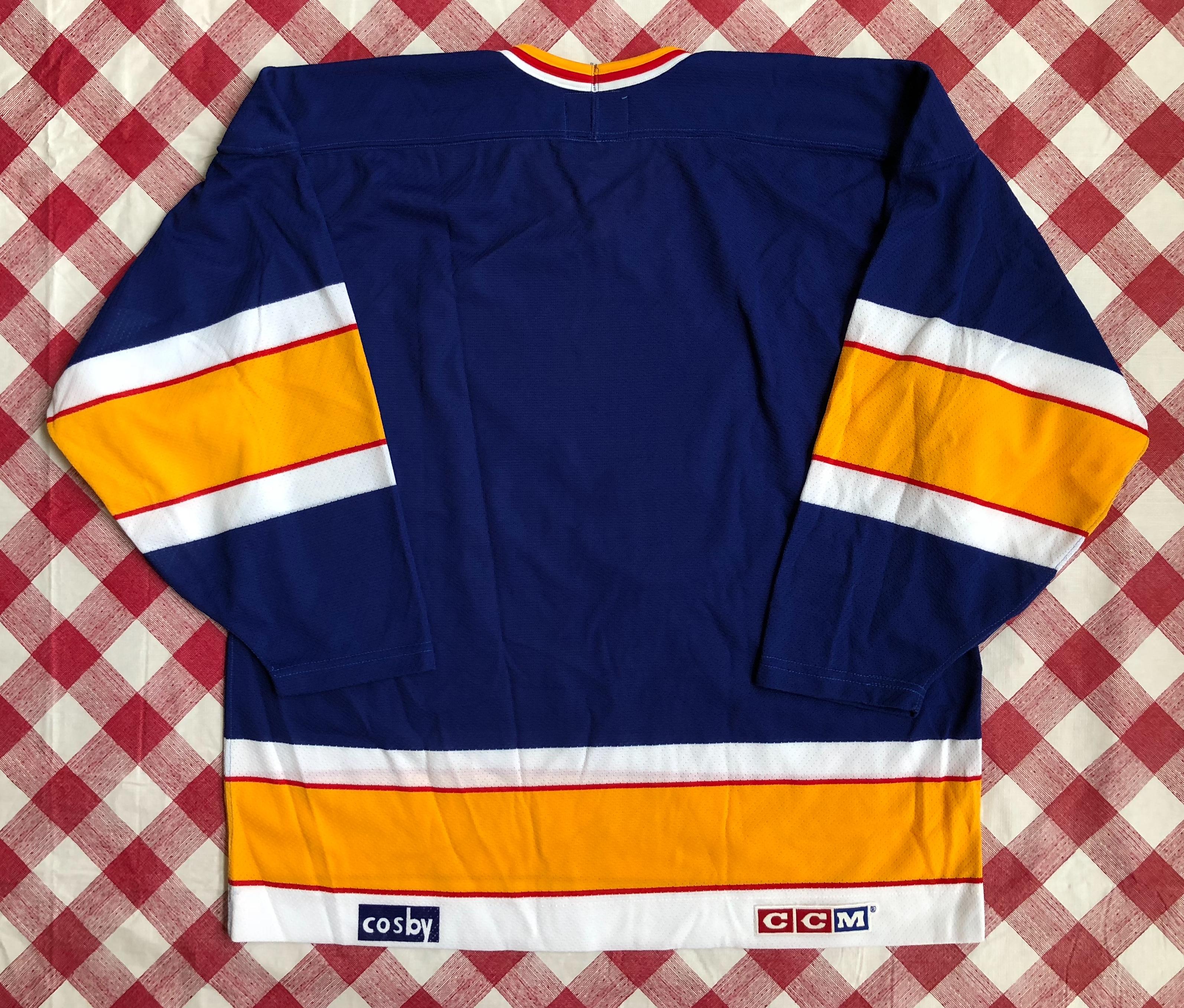 80's St  Louis Blues CCM Blue NHL Jersey Size XL