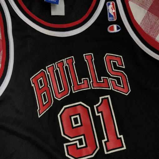 1996 Dennis Rodman Chicago Bulls Champion NBA Jersey Youth Large