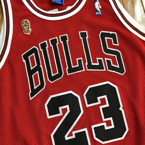 1996 Michael Jordan Chicago Bulls Authentic NBA Finals Champion NBA Jersey Size 44