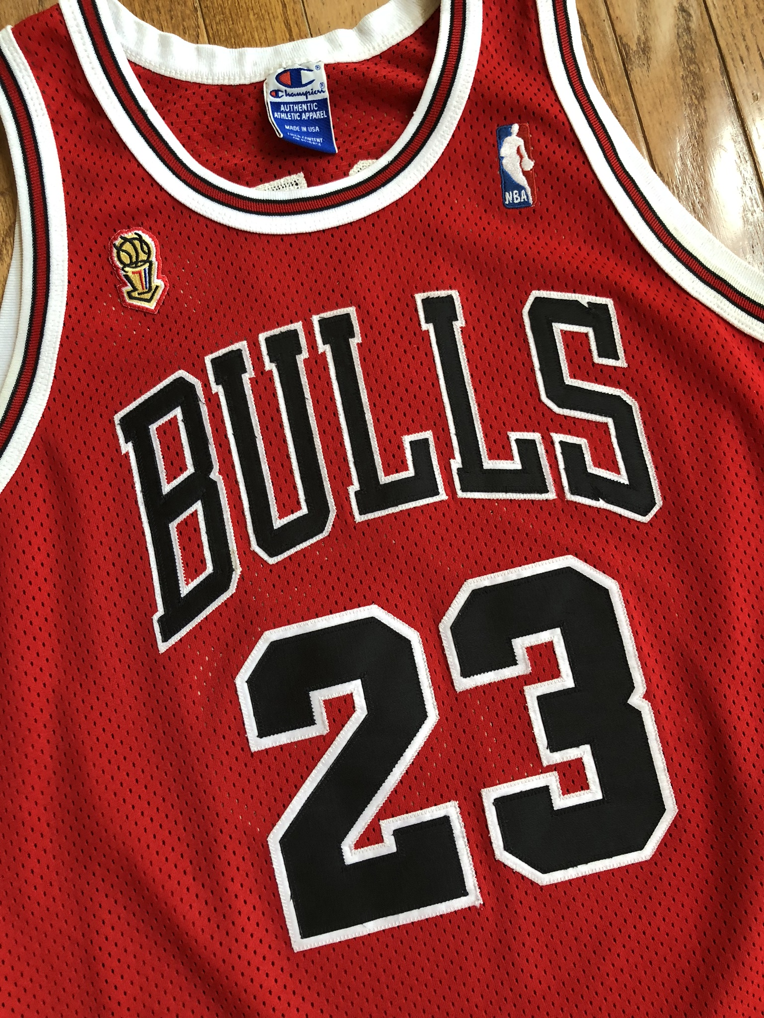 1996 Michael Jordan Chicago Bulls Authentic NBA Finals Champ