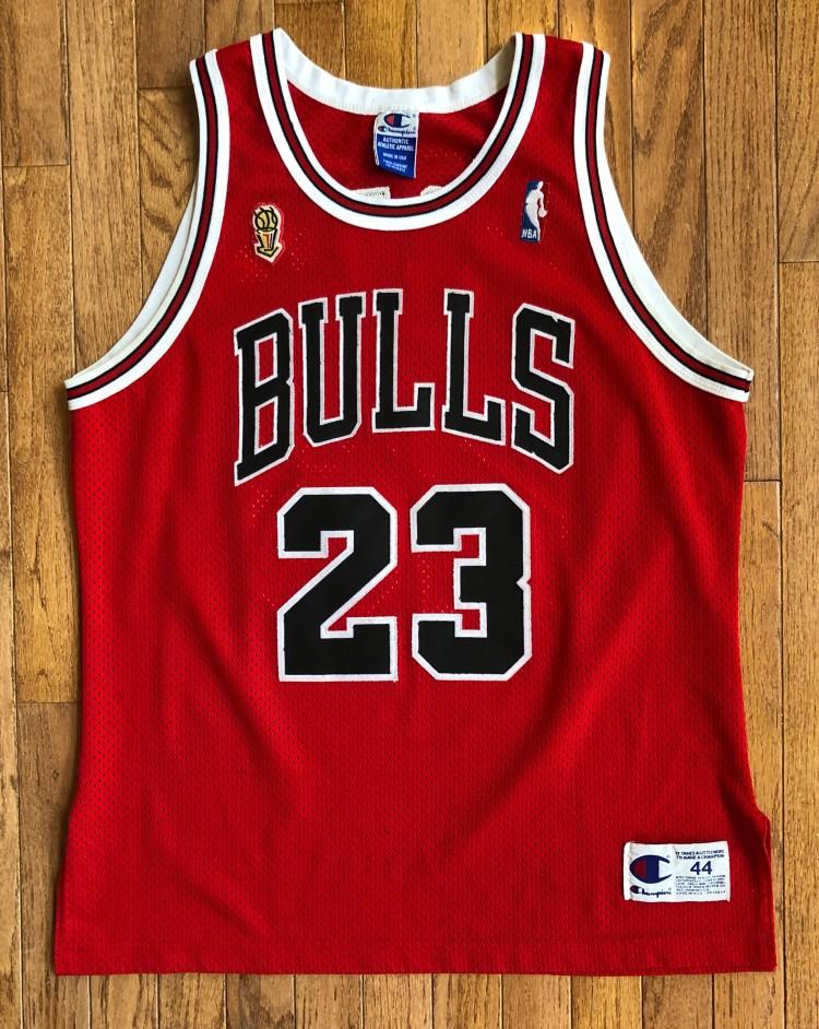 huge discount 4f50e 70427 1996 Michael Jordan Chicago Bulls Authentic NBA Finals Champion NBA Jersey  Size 44