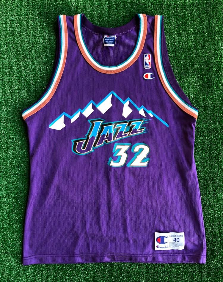 low priced b3f40 76c0e 1998 Karl Malone Utah Jazz Champion NBA Jersey Size 40