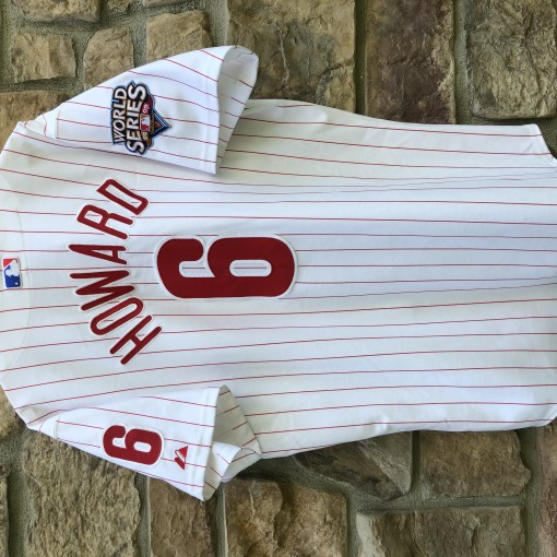 2009 Ryan Howard Philadelphia Phillies Authentic World Series MLB Jersey Size 48