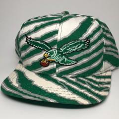90's Philadelphia Eagles Zubaz AJD NFL Snapback Hat Reggie White Autograph