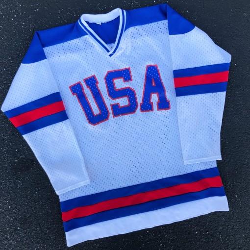 vintage 1980 team usa olympic hockey jersey size medium