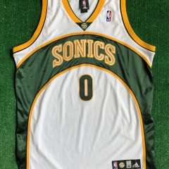 2008 Russell Westbrook Seattle Super Sonics Authentic Adidas NBA Jersey Size 48 XL