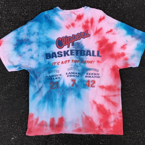 vintage 2000 Los Angeles Clippers tie dye t shirt lamar odom darius miles elton brand its not the same size XL