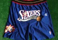 vintage 00's Philadelphia 76ers Sixers authentic Champion NBA shorts DON C Just don style customs blue