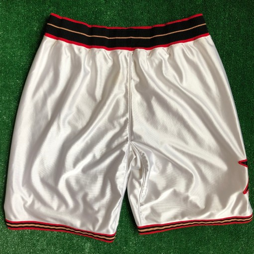 vintage 00's Philadelphia 76ers Sixers authentic Adidas NBA shorts DON C Just don style customs white