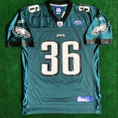 2004 Philadelphia eagles super bowl 39 xxxix Brian westbrook reebok jersey size large