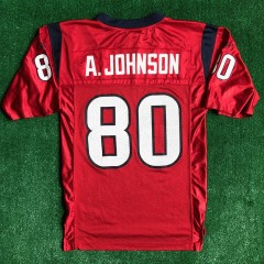 vintage andre johnson houston texans reebok nfl jersey size small red alternate