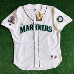 vintage 1995 Ken Griffey Jr Seattle Mariners authentic russell mlb jersey size 52 XXL