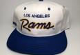 vintage 90's los angeles rams sports specialties  script nfl snapback hat