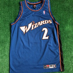 1998 God Shammgod Washington wizards authentic nba jersey size 48