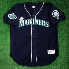 vintage 2002 Ichrio Seattle Mariners authentic Russell mlb jersey size 48 XL