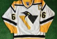 vintage 90's pittsburgh penguins starter nhl jersey size medium mario Lemieux