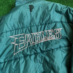 1996 Philadelphia Eagles Pro Player Reversible NFL Jacket Size XL