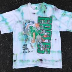 90's Philadelphia Eagles Suck Dallas 1 of 1 Rare Vntg Tie Dye T Shirt