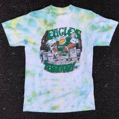 1990 Philadelphia Eagles Territory 1 of 1 Rare Vntg Tie Dye T Shirt Size Small