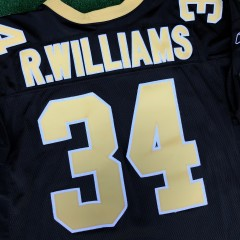 vintage new orleans saints authentic ricky williams reebok helmet tag nfl jersey size  52
